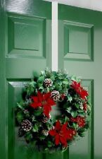 Christmas XMAS Wreath Hanger Large 'Over the door' 28cm  Metal Silver Brand New