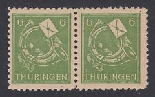 GERMANY, Soviet Zone, 1945. Thuringen, Mi 95AXcw pairI, Mint **