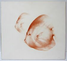 ALEXANDER CANEDO Rare Original Conte Crayon Drawing Orange Fish Minimalism Chic