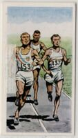 1956 Olympics 800 Meters Gold Medal Courtney USA  Vintage Trade Ad Card