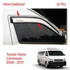 Wind Deflector Weather Rain Visor Guard For Toyota Hiace Commuter Van 2005 - 17