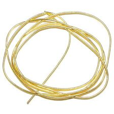 "WC311f French Wire Gold-Finish Coil 0.85mm Bullion Jewelry Component 27""/pkg"