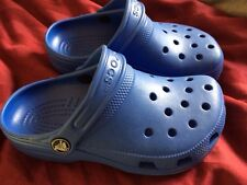 Blue Caymen Crocs Shoes Size M1 W3 Worn Once Around House