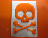 Pegatina Calavera 3D Relieve - Color Naranja