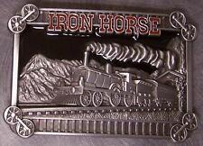Pewter Belt Buckle vehicle train Iron Horse NEW