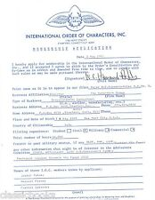 W. C. Hammond-Adler Signed Document Historical Aviation