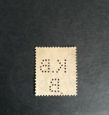 King edward viii stamp 1 1/2d red brown. Perfin used K.B.B.