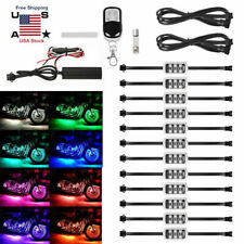 12Pcs MultiColor RGB Neon Under Glow Lights LED Strip Kit For Motorcycle Harley