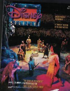 Disney Magazine Fall 1995 Spirit of Pocahontas Planet Hollywood Dean Jones