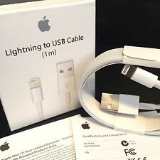1M Original Genuine USB Lightning Charger Cable for Apple iPhone 7 6S 5S