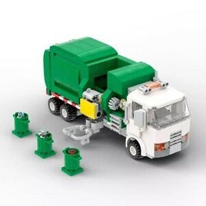 Building Blocks Set Automated Garbage Truck Toy Brick Educational Christmas Gift