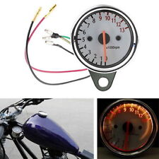 12V Universal Motorcycle Mechanica 13000RPM Scooter Analog Tachometer Gauge WC