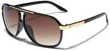 Retro 80s Fashion Aviator Sunglasses Black White Brown Men Women Vintage Glasses