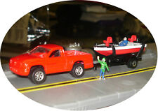 MAISTO - DODGE DAKOTA & BASS BOAT ON TRAILER - S TRAIN VEHICLE