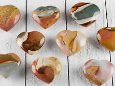 Polychrome JASPER Heart - Small Carved Stone E0753