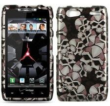 For Motorola DROID RAZR MAXX HARD Case Snap On Phone Cover Black Skulls