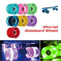 60mm Retro Cruiser Longboard Skateboard Wheels Glow Lights Magnetic LED Set  !