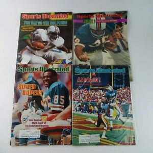 Sports Illustrated Magazine 1970s/80s NFL Miami Dolphins Lot Of 4 VTG