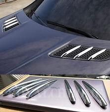 US Seller Bonnet Fins Hood Vent Grill Trims for Mercedes R172 SLK AMG CHROME