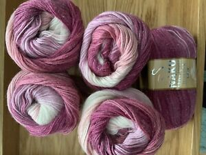 Nako 10% Mohair Special Knitting Yarn/Wool With Sparkly Metallic Thread 5 x 100g