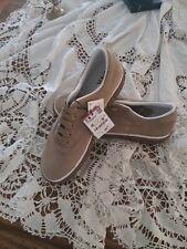 Zara Mam Beige Leather Plimsolls Tied Shoes Sneaker Sz  USA12/ EUR 45 5367/302
