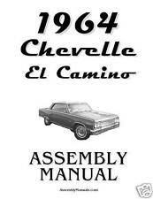 1964  Chevelle El Camino Assembly Manual 64