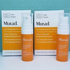 x2 Murad Vita C Vitamin Glycolic Brightening Serum -Travel (0.17 oz/5 mL each)