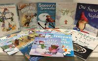 Lot 10 RANDOM Winter Christmas Snow Children's Picture & Reader Books