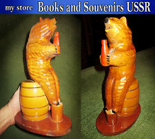 old wooden piggy Bank of the USSR, handmade in the 1970s, Very rare item