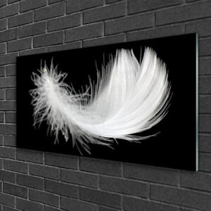 Tulup Print on Glass Wall art 100x50 Picture Image Feather Art
