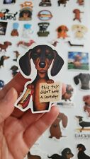 Cute Dachshund Dog Stickers - One Pack (50 Stickers)