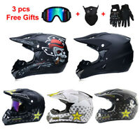 Off Road Motorcycle Helmet Motocross Helmet ATV Bike MTB Racing Capacetes+3 GIFT