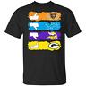 Chicago-Bears Minnesota-Vikings Detroit-Lions Green-Bay-Packers T-Shirt Black