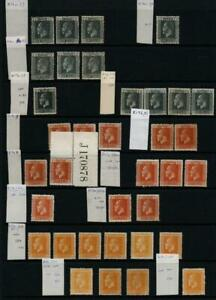 NEW ZEALAND: George V Varieties - Ex-Old Time Collection - Album Page (42723)
