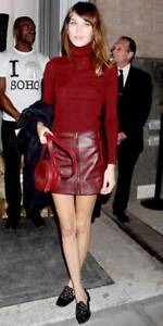 Versace Versus Leather Skirt UK8 IT40 Alexa Chung RRP800GBP dress
