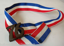 1976 spirit of buckle USA FLAG red white blue 30 belt Olympic bicentennial vtg