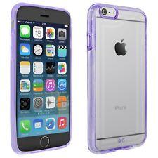 Cover für Apple iPhone 6 Tasche Hülle Schutz Case Handy Bumper transparent lila