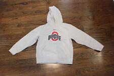 Nike Therma Fit Ohio State Hoodie Sweatshirt Pullover Medium 12 14 Gray Kid Yout