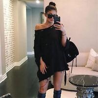 Ladies Hoodie Long Sleeve Sweatshirt Jumper Sweater Hooded Coat Tops Size 6-14