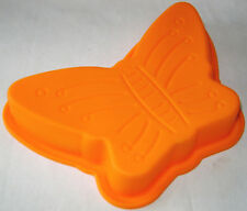 NEW 1 CHILDRENS SILICONE CAKE BAKING JELLY BUTTERFLY ORANGE