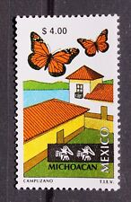 Mexico 1999 Michoacan Perm Series $4 Butterfly Monarch Lake Mountains Grass MNH