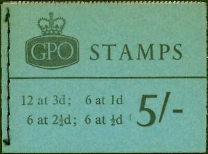 GB 1965 Jan 5s Wilding Booklet SGH72 Fine & Complete