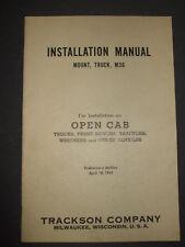 WWII Trackson Installation Manual Mount, Truck, M36; Ordnance Machine Gun ww2