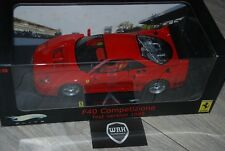 Ferrari F40 Competizione test red street Hotwheels elite IN BOX 1/18 SUPERB!!