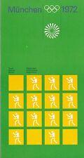 Otl Aicher 1972 JEUX OLYMPIQUES DE MUNICH Boxe livret ULM école Moderniste Design Braun
