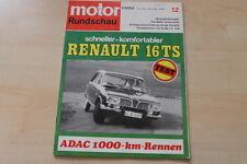 77456) Renault R 16 TS TEST - 75 Jahre Kässbohrer - Motor Rundschau 12/1968