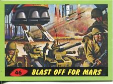 Mars Attacks Heritage Green Parallel Base Card #46    Blast Off for Mars