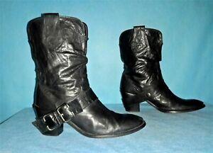 bottines boots JHAY en cuir noir p 39 fr