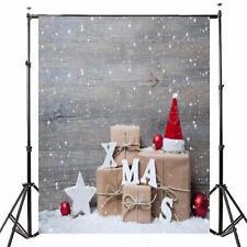 5x7FT Christmas Gift Snow Wood Studio Vinyl Photography Backdrop Background Prop