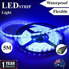 Blue Waterproof 12V 5M 2835 SMD 300 Leds LED Strip Lights Car Boat Caravan